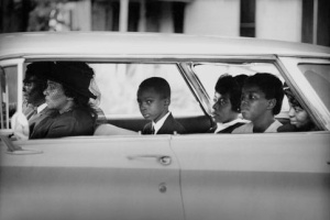 Bill Eppridge's Chaney Family as They Depart for the Funeral of James Chaney, Philadelphia, Mississippi, 1964