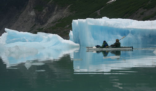"""""""Paddling with Ice"""" copyright by Rich Henke"""