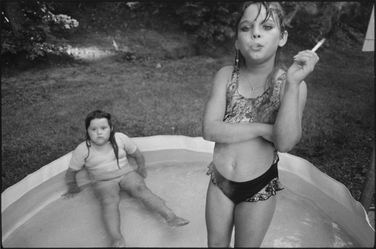Amanda and her cousin Amy, Valdese, North Carolina, USA, 1990